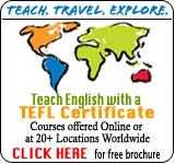 TEFL Training Worlwide!